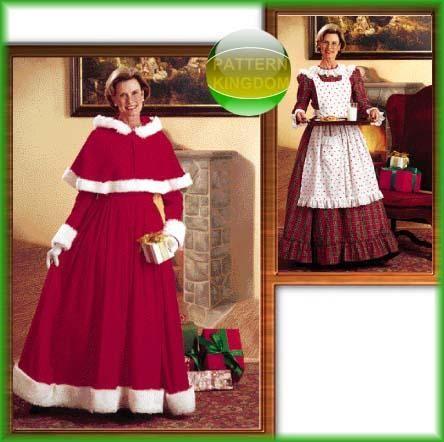 Mrs. Santa Costumes Sewing Patterns   Pattern Kingdom Ladies Cultural Historic Costume Patterns