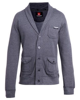 Don\'t sweat the small stuff in this Mrs Ballz Sweat Jacket by Quicksilver. This jacket is charcoal melange in colour