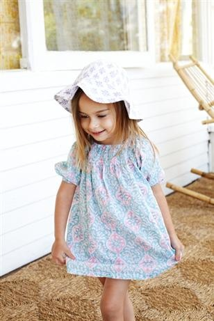Haveli Smock Dress - Aqua & Pink Medallion, Girls Clothing   Haveli Smock Dress - Aqua & Pink Medallion    Price: $35.00      Stylish and easy to wear aqua and pink medallion smock dress by Haveli - your little miss will adore it!