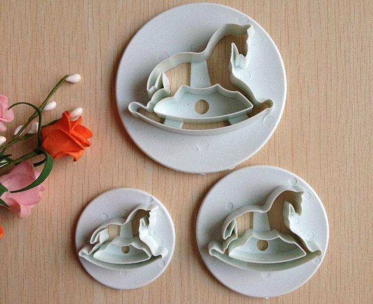 ENVÍO GRATIS! Cortado para hacer Caballos de madera - Cortadores de fondant - decoración de tortas - pasteles - tartas - cakes de CintaLapizyPapel en Etsy