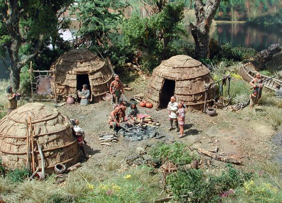 Eastern Woodland Indian Village | Woodland Indians 1 (18th century) - In the village