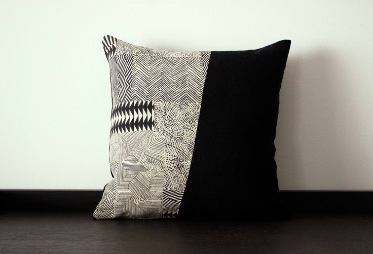 Cuscinetto quadrato bianco e nero