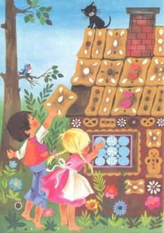 Illustrations from Grimm's Fairy Tales [Hansel Und Gretel II]