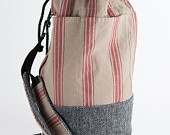 Traditional Duffel bag in Harris Tweed and Linen