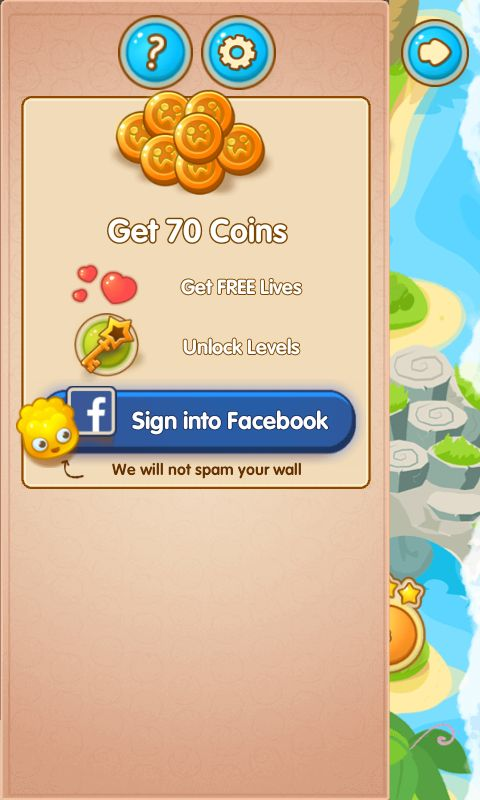 Jelly Splash by Wooga - Sign In to Social Media Gift Pack - Match 3 Game - iOS Game - Android Game - UI - Game Interface - Game HUD - Game Art