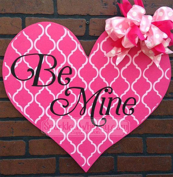 Be Mine Valentine Door Hanger Ships in 5 by SparkledWhimsy on Etsy & 277 best Valentine Door Hanger images on Pinterest | Valentines ...
