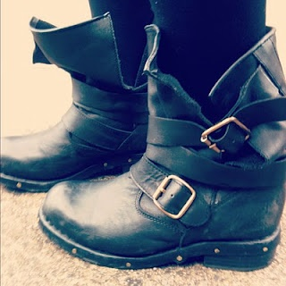 Jeffrey Campbell Brit Boots  the perfect motorcycle boots for fall.