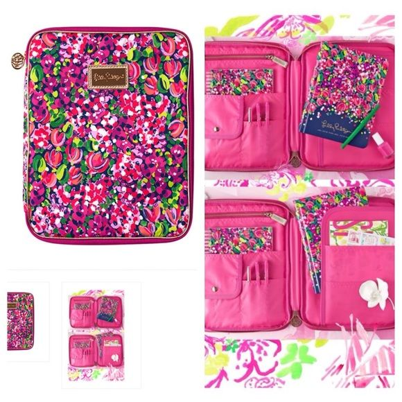 "Lily Pulitzer Wild Confetti Agenda Folio NEW Brand new Lilly Pulitzer Agenda Folio. ""Wild Confetti"" pattern. New!!!! Bought and did not need. NOT TRADING AND FIRM WITH PRICE. Lilly Pulitzer Accessories Tablet Cases"