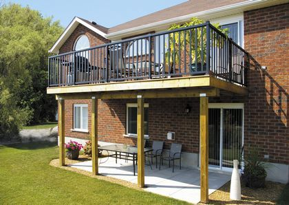 88 best images about creative deck designs on pinterest for Second story deck plans pictures