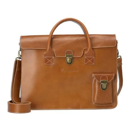 Leather Briefcase | Knowledge Cotton Apparel