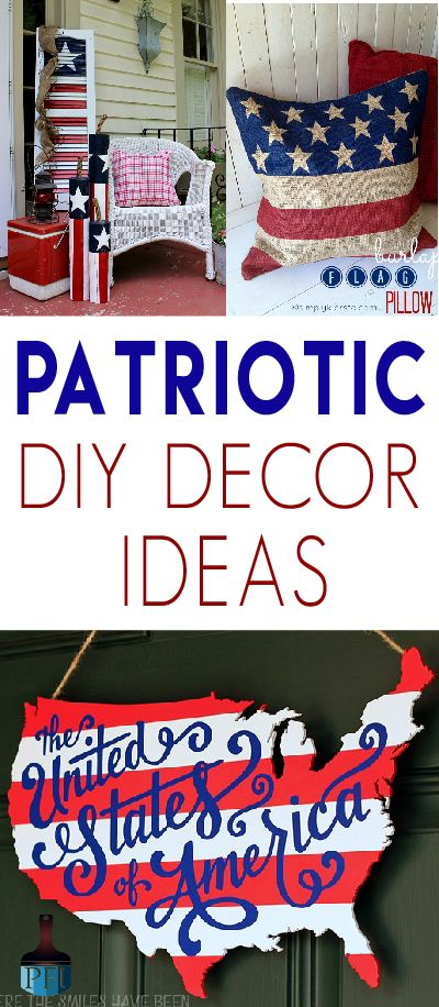 Celebrate the land of the free with these easy patriotic DIY decor projects! Grab your glue gun, because red white and blue never looked so good!