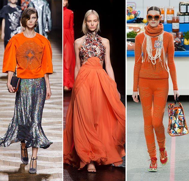 Fall/ Winter 2014-2015 Color Trends: Orange  #trends #colortrends #orange