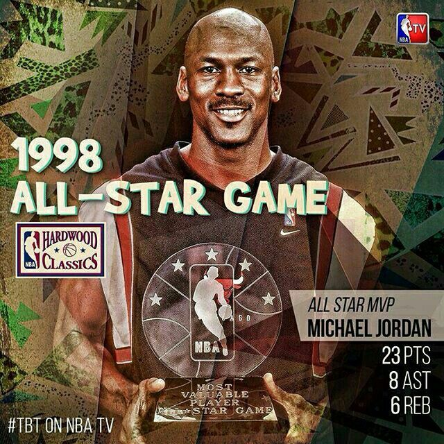 It's a marathon of 90s All-Star games today on NBA TV! 1998 starts it off! #TBT #90sWeek