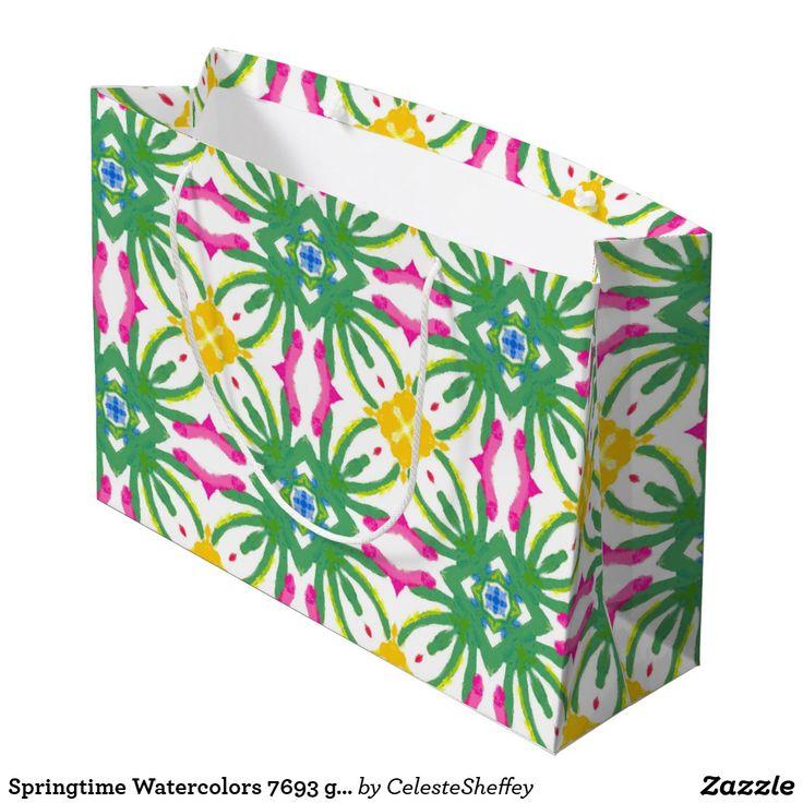 Springtime Watercolors 7693 gift bag