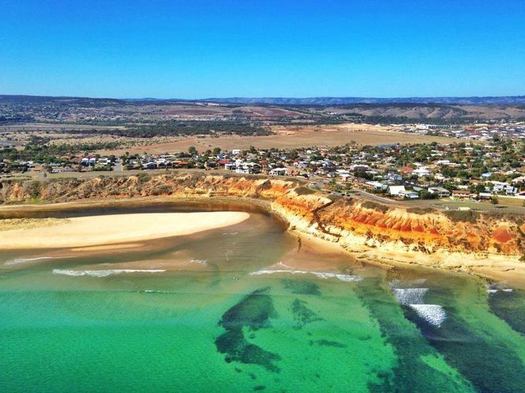 Southport at Port Noarlunga beach Photo: Shane Daw on board the Westpac Lifesaver Rescue Helicopter - Adelaide