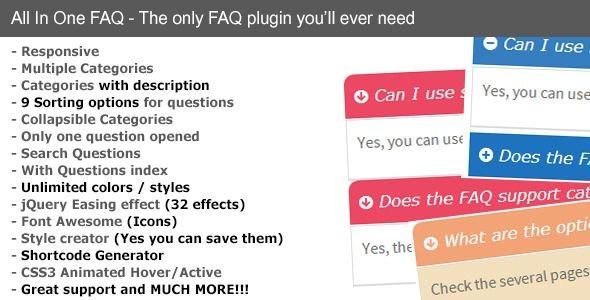 All in One FAQ - CodeCanyon Item for Sale