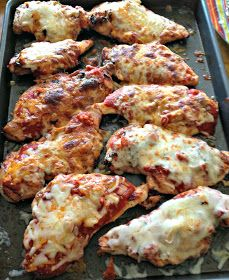 3 Ingredient Grilled Chicken Parmesan- so easy and much healthier than the traditional version! www.nutritionistreviews.com