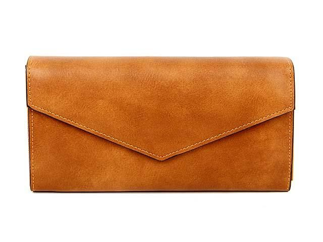 TAN LEATHER EFFECT MULTI-COMPARTMENT PURSE WITH WRIST STRAP, £8.99 - A-SHU.CO.UK