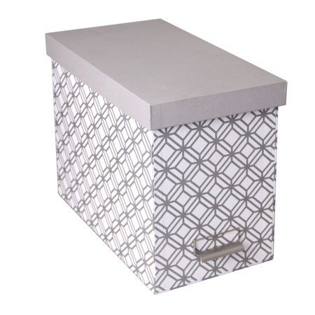 Decorative File Storage Box With Lid Gray Products In 2019