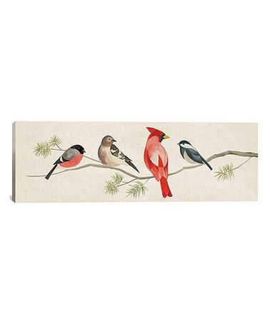 This Festive Birds I Wrapped Canvas is perfect! #zulilyfinds