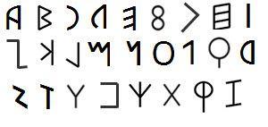 Atlantean alphabet.