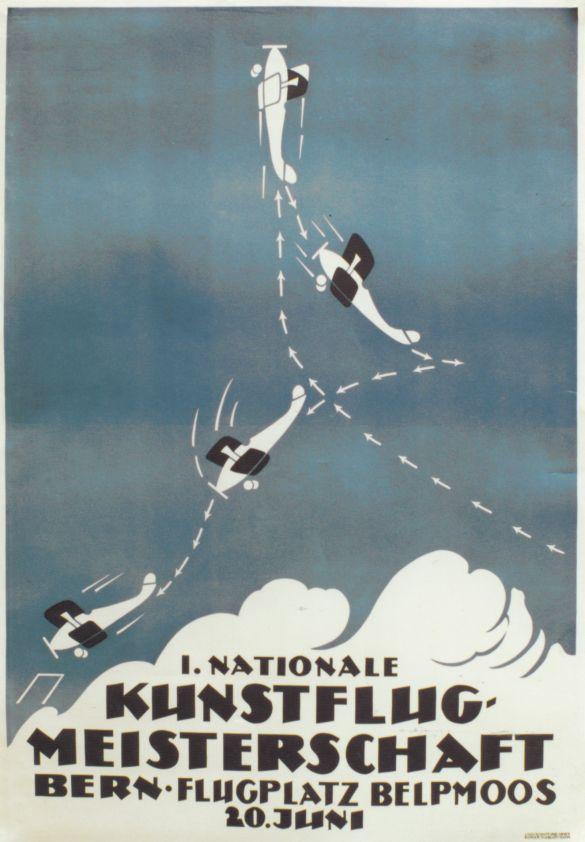 1. Nationale Kunstflug Meisterschaft, Bern - Vintage Posters - Galerie 123 - The place to find vintage art