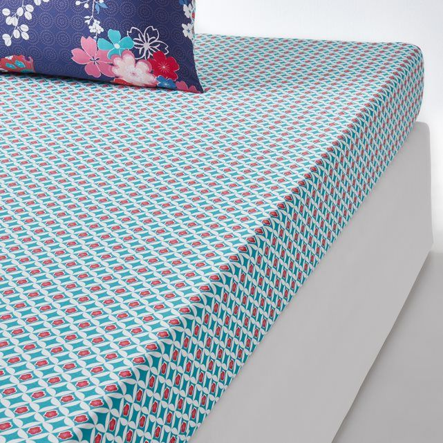 Miss Shanghaï Printed Fitted Sheet La Redoute Interieurs : price, reviews and rating, delivery. Miss Shanghaï fitted sheet. Freely inspired by Chinese art, the Miss Shanghaï bed linen collection features our favourite Asian motifs: stylised flowers combined with very colourful accessories.Miss Shanghaï fitted sheet:Micro-motif print.100% densely woven cotton (57 threads/cm²) : The higher the thread count, the higher the quality of the weave.2...