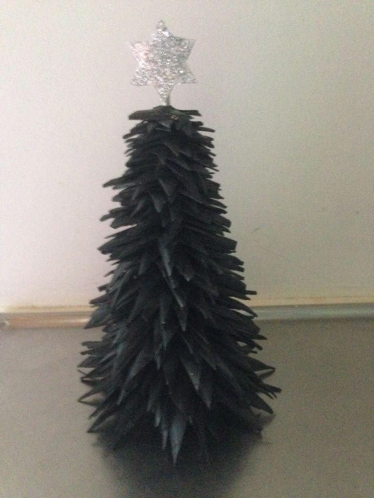 Juletræ af cykelslange