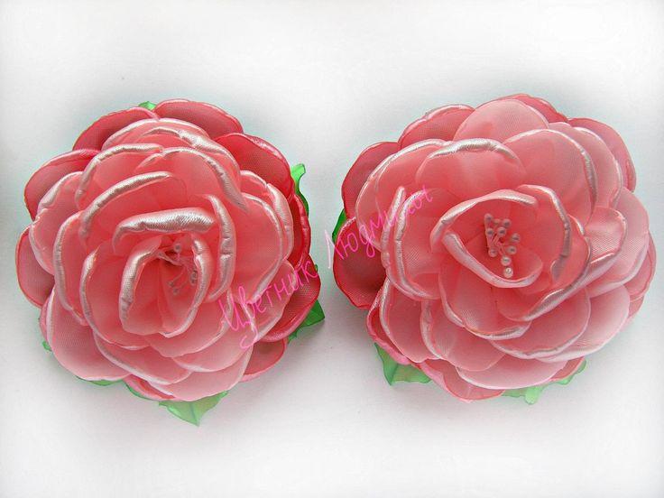 Цветы канзаши мастер класс \ Flowers kanzashi master class \DIY