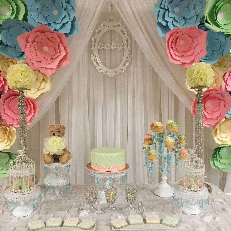 Pastel Colors Baby Shower Party Ideas Photo 13 Of 16