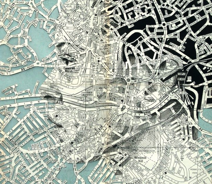 New Cut and Contoured Map Portrait by Ed Fairburn - My Modern Metropolis
