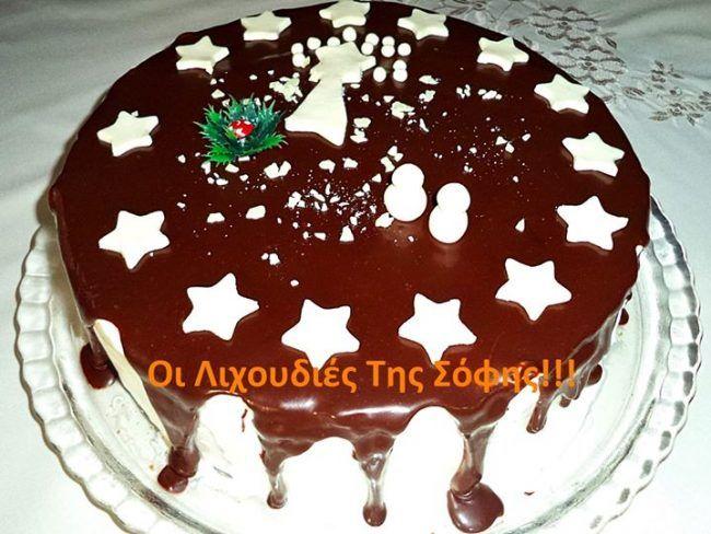 Η ποιο εύκολη Χριστουγεννιάτικη τούρτα με φωτογραφίες βήμα βήμα και αναλυτικές οδηγίες! Υλικα γιαΧριστουγεννιάτικη τούρτα ΥΛΙΚΑ ΓΙΑ ΤΟ ΠΑΝΤΕΣΠΑΝΙ 4 αυγά 4 κ.σ ζάχαρη 4 κ.σ αλεύρι που φουσκώνει 3 κ.σ κακάο 1 βανίλια 1 πρέζα αλάτι -Χτυπάω τα αυγά με τη ζάχαρη,βανίλια και