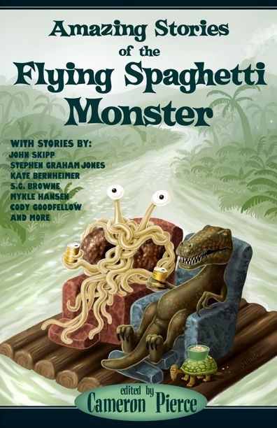 Like an all-spaghetti evening of Adult Swim, Amazing Stories of the Flying Spaghetti Monster will show you the many realms of His Noodly Appendage. Description from goodreads.com. I searched for this on bing.com/images