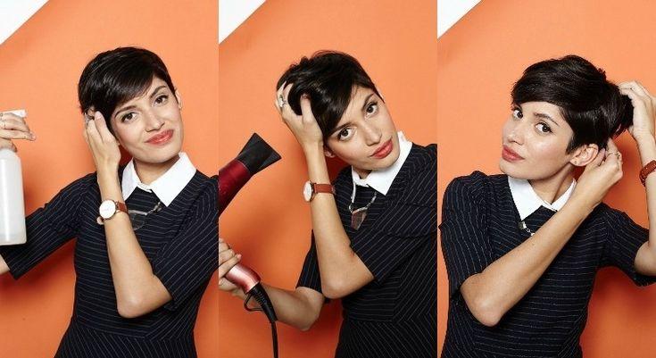 coupe de cheveux courte femme -pixie-cut-brushing