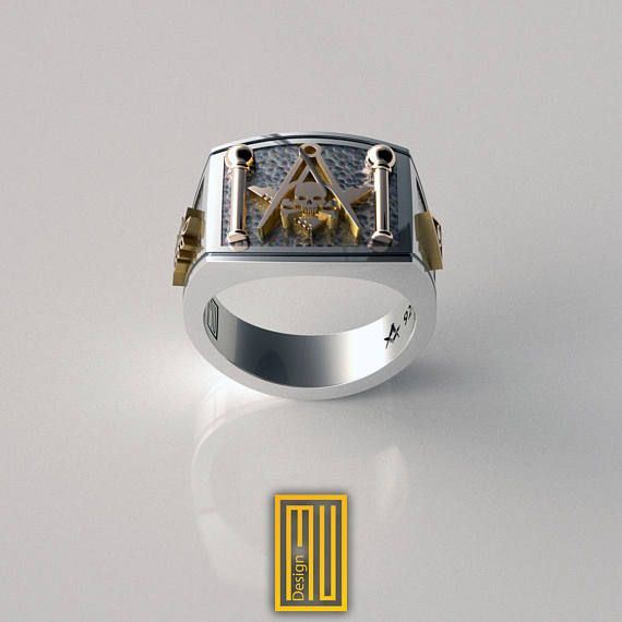 The Details of the Ring - Master Mason symbols - Skull with crossbones - Side symbols acacia and all seeing eye - Square and compasses symbol - J and B symbols The General Details: The rings are specially designed with Masonic symbols that has never seen before. In addition to the