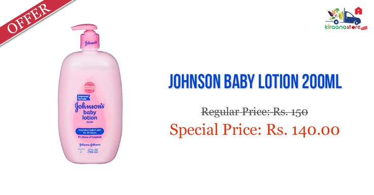 Shop Online for Johnson Baby Lotion at Less Than MRP Only on Kiraanastore.