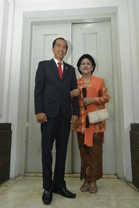 Bapak Presiden Joko Widodo dan Ibu Presiden Iriana.