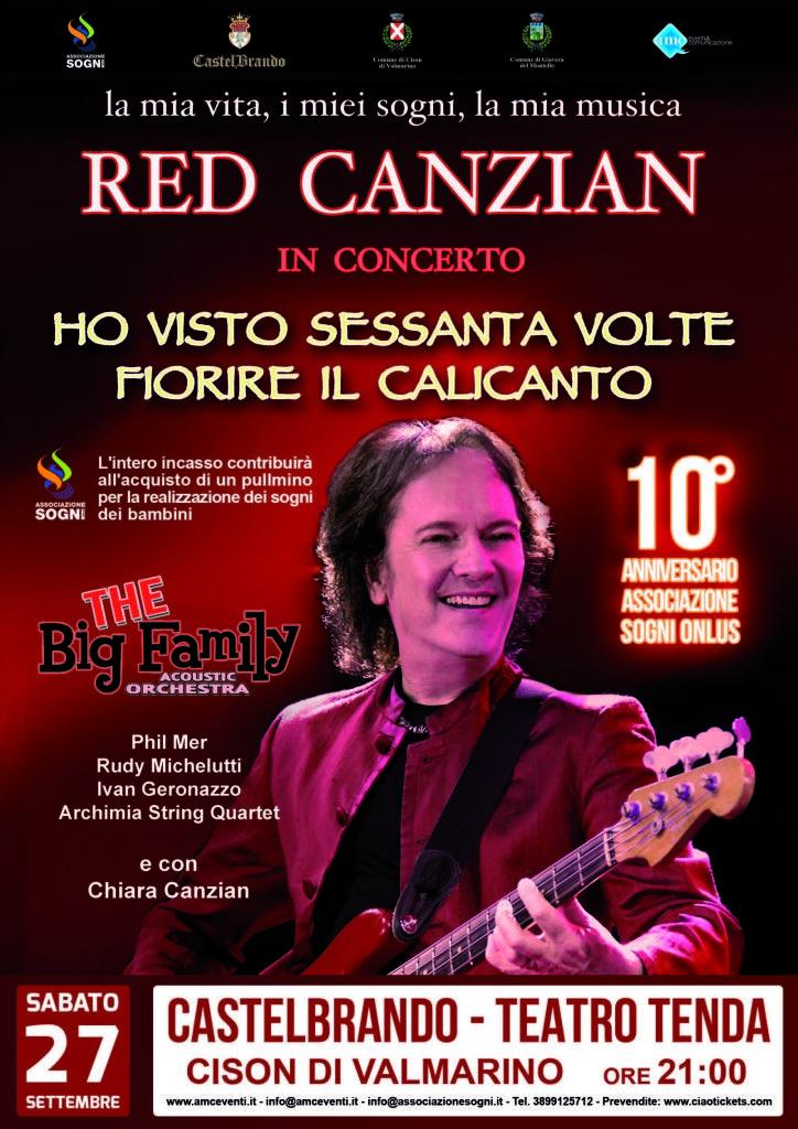 #concerto di #beneficienza #castelbrando #RedCanzian #pooh #AssociazioneSogniOnlus