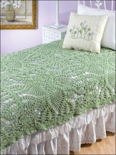 pineapple crocheted bedspread
