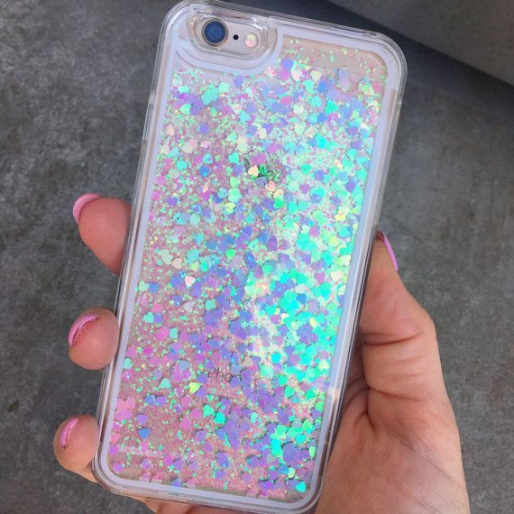 Liquid Holographic iPhone Case by TheBlingBling.net – Glitter Iphone X Case – Gl…