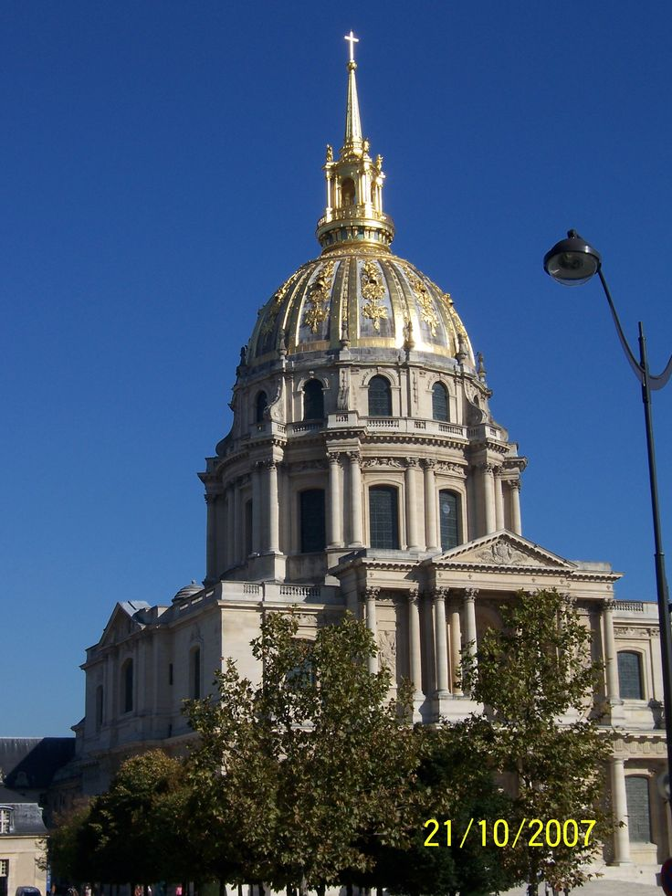 The Dome of Les Invalides, Paris, from our 2007 trip.