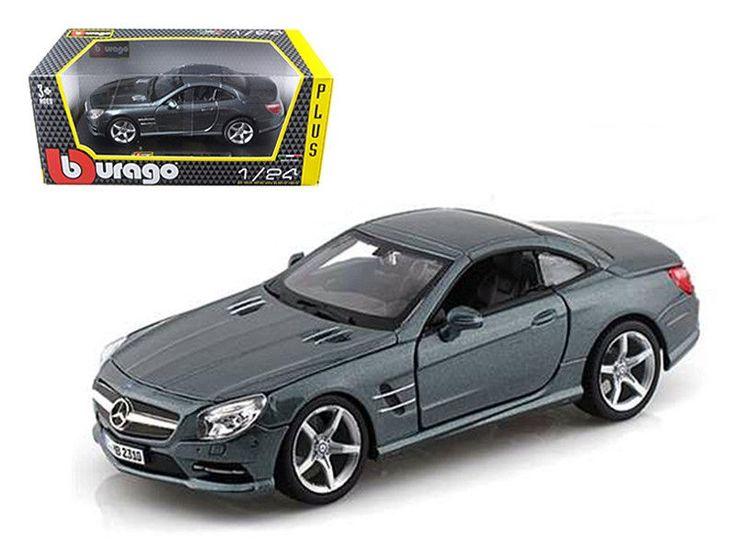 Mercedes SL 500 Coupe Grey 1/24 Diecast Car Model by Bburago