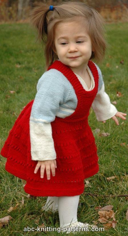 ABC Knitting Patterns - Sweetheart Child's Eyelet Bib Skirt