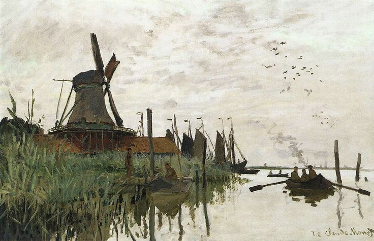 Wiindmill at Zaandam 1871 Oil on canvas, 48 x 74 cm Ny Carlsberg Glyptotek, Copenhagen