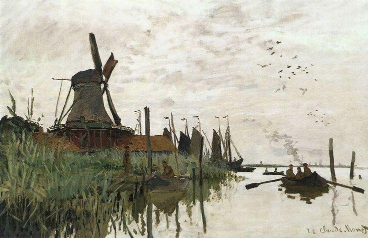 Wiindmill at Zaandam 1871 Oil on canvas, 48 x 74 cm Ny Carlsberg Glyptotek, Copenhagen