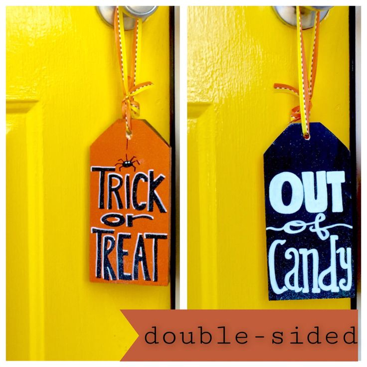 Halloween Door Tag Out Of Candy Sign Halloween Decor & 385 best Door tags images on Pinterest | Easter crafts Easter ideas ...