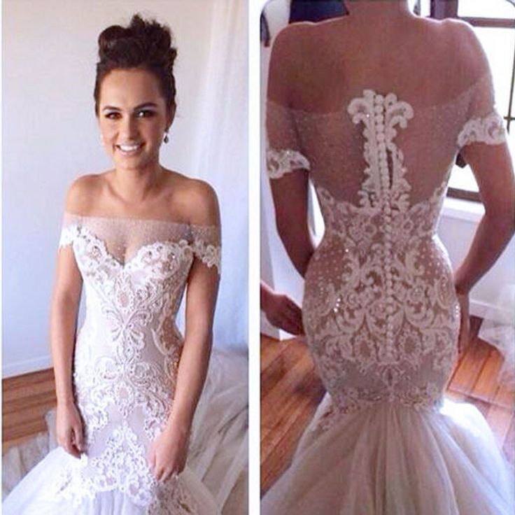 945 best bridal gowns detailed design images on for Wedding dresses for big chest