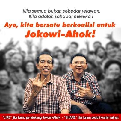 Rakyat Jakarta tidak akan tinggal diam. Kami maju membentuk koalisi rakyat untuk Jokowi-Ahok!