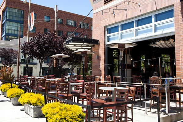 14 Pretty Patios For Alfresco Dining In S.F. #refinery29  http://www.refinery29.com/best-patios-san-francisco#slide11  Paragon Restaurant Cuisine: New American Its MO: The All-American Just blocks away from the waterfront and AT&T Park, here's a lively locale to grab a bite and a cold one before or after the ballgame. Patio seating complete with umbrellas and heat lamps is set up during warmer weather and the wine and beer lists include an ample selection of West Coast favorites. Bonus: For…