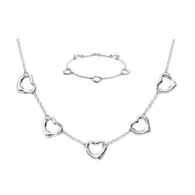 Tiffany & Co Elsa Peretti Open Heart Set